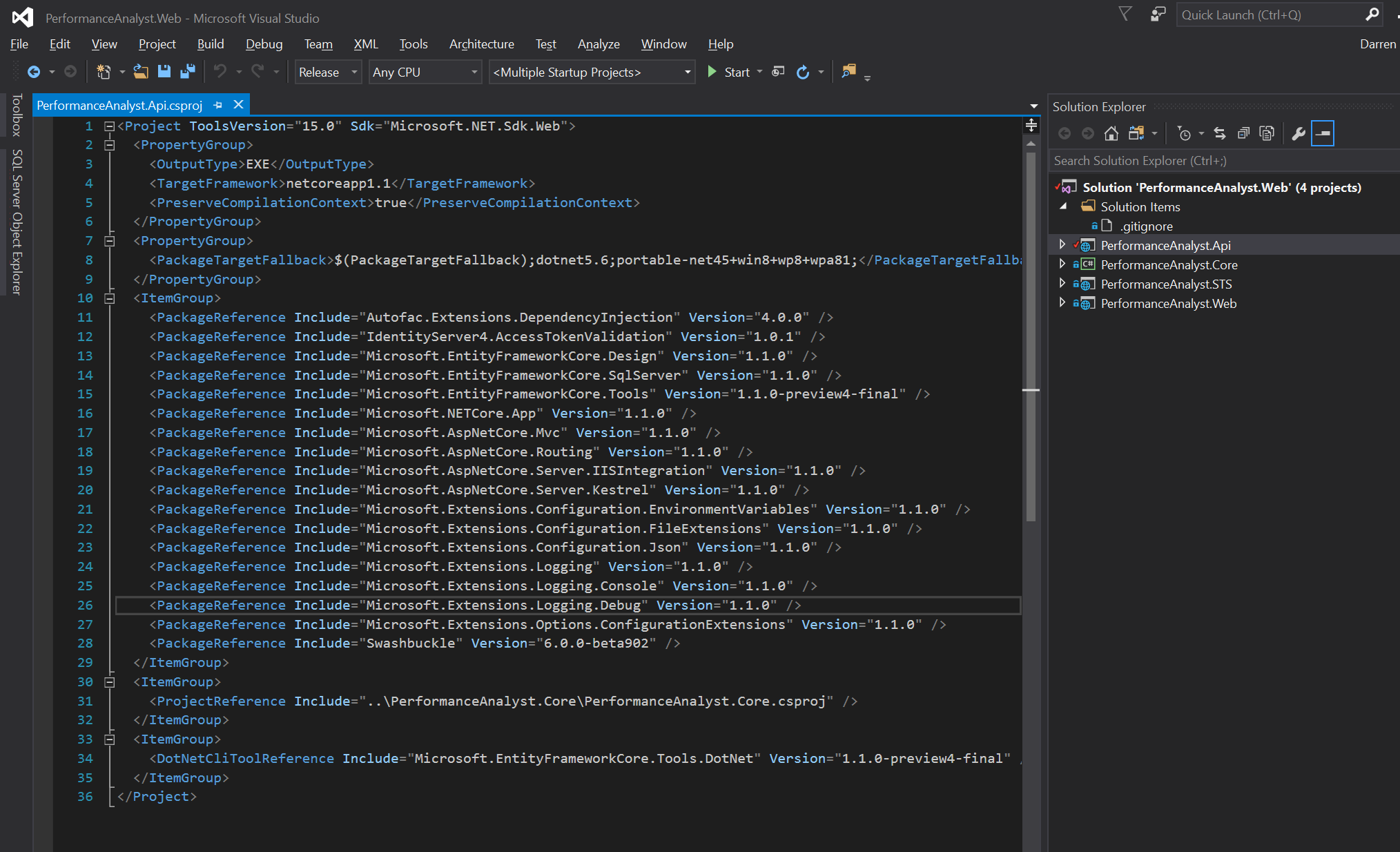 Building ASPNet Core projects with MSBuild